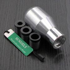 Universal Car Silver 5Speed Manual Gear Shifter Stick Shift Knob Lever Aluminium