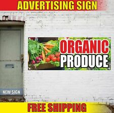 ORGANIC PRODUCE Advertising Banner Vinyl Mesh Decal Sign FRESH FARM FRUITS MEAT