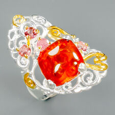 Silver Ring Size 8/R91192 Handmade Natural Amber 925 Sterling