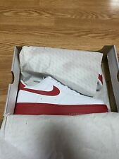 Nike Air Force 1 Low Men's Size 10 White/University Red Midsole CK7663-102