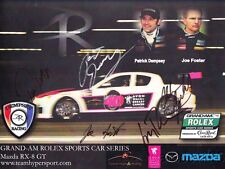 2009 Dempsey Racing Mazda RX-8 signed Rolex 24 Grand Am postcard Patrick Dempsey