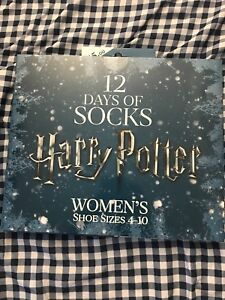 Harry Potter 12 Days of Socks Advent 2017 Calendar Women's Shoe Size 4-10