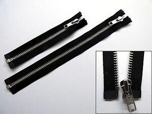 Zip, Zipper, Standard Puller, Open End, Separating, Medium, Metal, YKK, Black