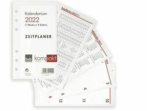 bsb Kalendarium Timer ca A6 16,8x9,5cm 1Woche 2Seiten 2022 Kalender Einlagen A6
