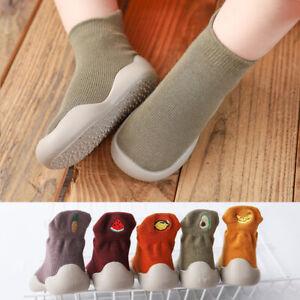 Baby Boys Girls Slipper Socks Kids Spring Toddler Anti-slip Sock Floor Shoes New