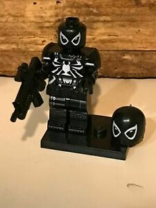 CUSTOM MINI FIGURINE COMPATIBLE LEGO SERIE MARVEL SPIDER MAN  PUNISHER