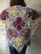 Irish crochet Iris lace shawl