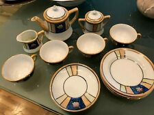 17 Piece Hand Painted Lusterware Japanese Antique  Doll Dishes Set