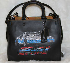 COACH 1941 Rogue Car Embellished Leather Satchel Bag Purse Limited Edition $895