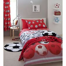 Catherine Lansfield Football Rouge Housse de Couette Double + Assorti 72 ""