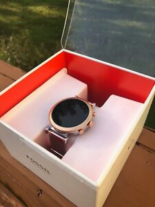 Fossil Women's Gen 4 Venture HR Stainless Steel Touchscreen Smartwatch FTW6043