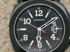 Anonimo Men's Sailor Black Leather Strap Swiss Automatic Watch AM200002012A01