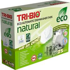Tri-Bio Eco Naturel Tout en Un Lave-vaisselle Comprimés 25 comprimés Aucun Produ...