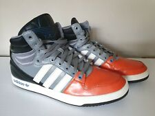 Adidas Court Attitude Mens Trainers Black Grey Orange High Top Sneakers Size12.5