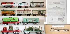 Mintish RARE Modern MARX Limited Speical CHRISTMAS NORTH POLE set w/Extra Cars