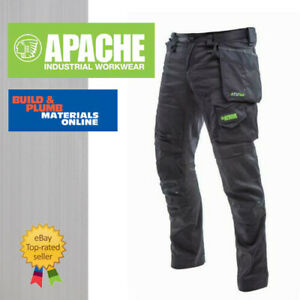 Apache ATS Flex Work Trousers - NEW for 2020 Stretch Panels - Slim Fit - Holster