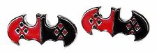 DC Comics Harley Quinn Batman Logo Stud Earrings