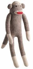 Multipet Plush Squeaker Dog Toy Sock Monkey Small 10 Inch
