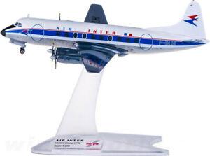 1:200 Herpa AIR INTER Vickers Viscount 700 Passenger Aircraft Diecast Model