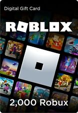 Roblox Gift Card - 2000 Robux -Same Day- [Includes Exclusive Virtual Item]