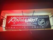 Rare Coors light Nhl hockey beer neon bar sign mancave new pub display garage