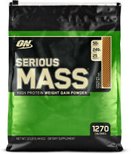 OPTIMUM NUTRITION Serious Mass Weight Gainer Protein Powder, Chocolate Peanut