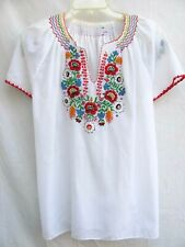 Vtg 60s 70s.Embroidered.Hippie.Bo ho.Peasant.Top.sz Large