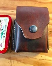 Leather belt pouch for Altoids tin, hiking camping backpack bushcraft survival