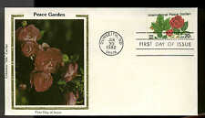 "U.S. FDC  #2014 Colorano ""Silk"" Cachet Dunseith,ND Int'l {eace Rose Garden"