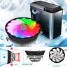 Desktop Cooling Fan RGB Color CPU Cooler LED Air Heatsink Intel AMD PC Processor