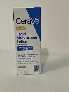 CeraVe Am Facial Moisturizing 3 fl oz Lotion SPF 30 Expires 2024 New