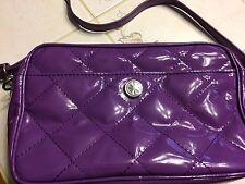 Issac Mizrahi Women's Handbag, Purple Purse Shoulder Bag, PCV Vinyl. Cute Bag