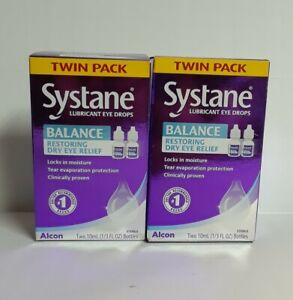 twin 2packs Systane Balance Dry Eye Relief Lubricant Drops 1|3 Oz.Exp:06/22 #074