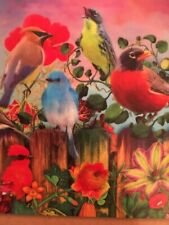 Bird Flower Mix Panorama Jigsaw Puzzle - 750 Pieces . Milton Bradley 2018