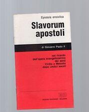slavorum apostoli epistola enciclica di giovanni paolo II