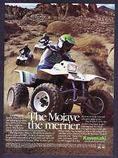 1987 Kawasaki Mojave ATV 4-Wheeler photo promo ad