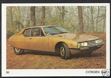 Americana Munich 1970 Card - Motor Cars - No 91 - Citreon SM