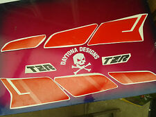 TZR CUSTOM SET SPEED BLOCK PATTERN GRAPHICS DECALS STICKERS