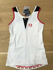 MOA Made in ITALY Women Medium Sleeveless Jersey White NWT