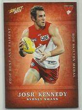 2013 AFL SELECT CHAMPIONS BF16 Josh Kennedy Sydney SWANS Best and Fairest CARD