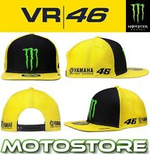 VR46 VALENTINO ROSSI MONSTER ENERGY FLAT CAP PEAK OFFICIAL SPONSER 2017 YELLOW