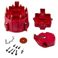 Red Male Hei Distributor Cap Coil And Rotor Replacement For Sbc Bbc 305 350 454