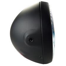 Grosser Scheinwerfer schwarz matt seitliche Befestigung Hauptscheinwerfer Custom