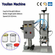 Glass Bottle Capping Machine Aluminum Lid Twist Lug Capping Machine Screw Sealer