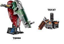 🔹NEW🔹 Lego Star Wars 75060 UCS & 75137 Combo Sets 🔹NO MINIFIGURES🔹