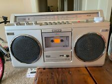 Vintage 1981 Sony Boombox, cassette player, Am-Fm Stereo, Ac or Battery