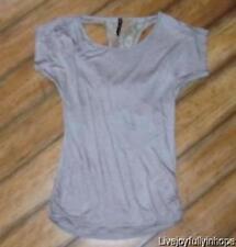 LILY BLEU ~ Size Medium ~ Cut-Away DRAPE BACK Stretch Rayon Pullover Shirt