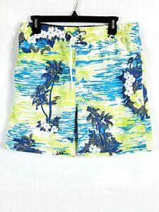 US Surf Club Swim Trunks Size M Tropical Green Blue Summer Fun  Vacation Beach