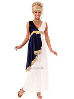 Grecian Greek Maiden Ladies Roman Fancy Dress Womens Toga Costume Outfit 6-12