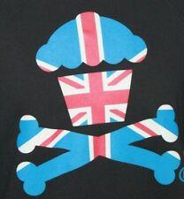 Johnny Cupcakes Black Pullover Crewneck Sweatshirt Men's Size XL British Flag
